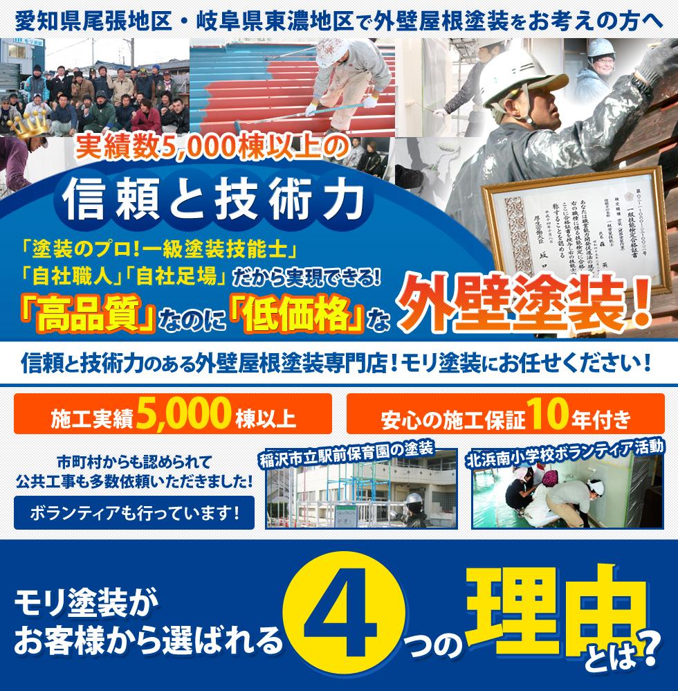 稲沢市の外壁塗装はモリ塗装にお任せください!
